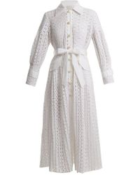 Huishan Zhang - Mariella Broderie Anglaise Coat - Lyst
