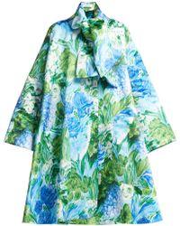 Richard Quinn - Oversized A-line Floral-print Satin Coat - Lyst