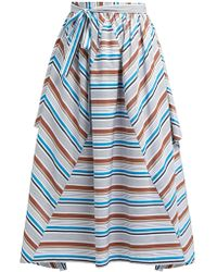 Isa Arfen Cesenatico Striped Cotton Skirt