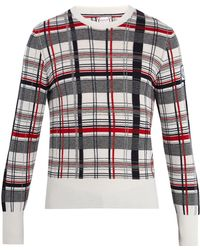 Moncler Gamme Bleu - Checked Cashmere Sweater - Lyst