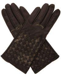 Bottega Veneta - Intrecciato Leather Gloves - Lyst