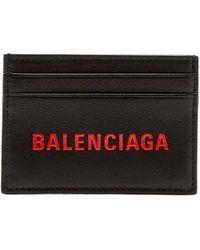 Balenciaga - Logo Leather Cardholder - Lyst