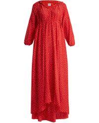 Vetements - Robe en soie à capuche à pois et imprimé Emoji - Lyst