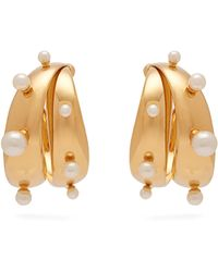 Peter Pilotto - Faux Pearl Embellished Earrings - Lyst