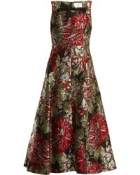 Erdem - Polly Flower Jacquard Dress - Lyst