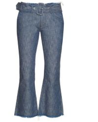 Marques'Almeida - Frayed-edge Flared Cropped Jeans - Lyst