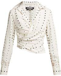 Jacquemus - La Chemise Fil Coupé Polka Dot Cotton Shirt - Lyst