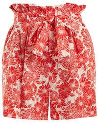 Lisa Marie Fernandez - Tomto Floral-print Linen Shorts - Lyst