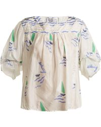 Thierry Colson - Rock The Boat Silk Top - Lyst