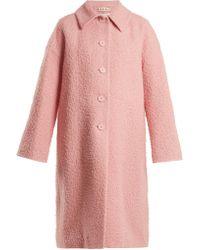 Marni - Single-breasted Alpaca And Silk-blend Coat - Lyst