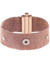 Carolina Bucci - Diamond, Silk & Rose-Gold Bracelet - Lyst