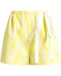 Rochas   Chevron-jacquard Cotton-blend Shorts   Lyst