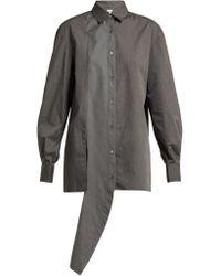 Loewe - Asymmetric Front Crepe Shirt - Lyst
