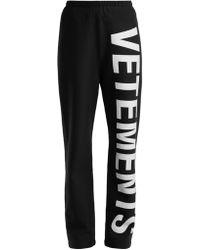 Vetements - Pantalon De Sport En Coton Imprimé Logo - Lyst