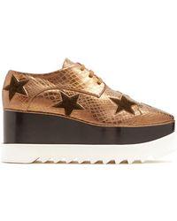 Stella McCartney - Elyse Lace-up Platform Shoes - Lyst