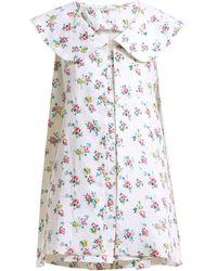 Emilia Wickstead - Jonas Floral-print Sleeveless Jacket - Lyst