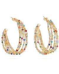 Rosantica By Michela Panero - Velo Bead-embellished Hoop Earrings - Lyst