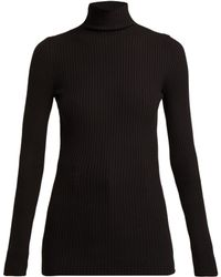 Wolford - Ribbed Knit High Neck Top - Lyst