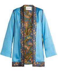 Etro - Agate Floral-brocade Satin Jacket - Lyst