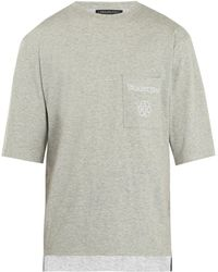 Longjourney   Nash Embroidered Cotton T-shirt   Lyst