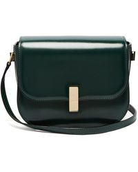 Valextra - Iside Cross Body Leather Bag - Lyst