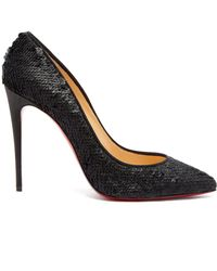 Christian Louboutin - Pigalle Follies 100 Sequin Embellished Pumps - Lyst