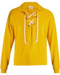 Bliss and Mischief - Ohara Lace-up Cotton-blend Sweatshirt - Lyst