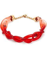 Marni - Twisted Plexi Necklace - Lyst