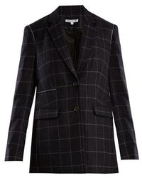 Elizabeth and James - Caprice Windowpane-checked Wool-blend Blazer - Lyst