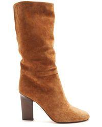 Samuele Failli - Siria Round-toe Knee-high Suede Boots - Lyst
