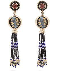 Etro - Bead-embellished Tassel-drop Earrings - Lyst