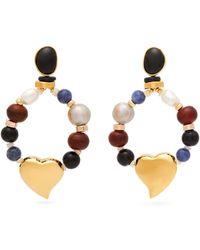 Lizzie Fortunato - Candy Heart Multi Stone Earrings - Lyst