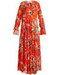Diane von Furstenberg - Bethany Floral-print Silk Dress - Lyst