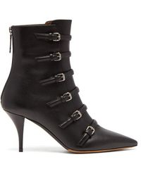 Tabitha Simmons - Dash Buckled Leather Boots - Lyst