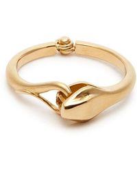 Marc Alary - Snake 18kt Gold Ring - Lyst