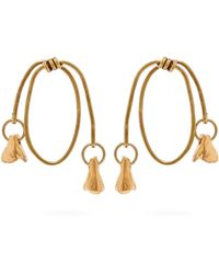 Marni - Twisted Hoop Earrings - Lyst