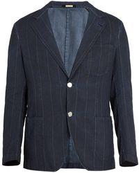 Massimo Alba - Notch-lapel Striped Cotton Blazer - Lyst