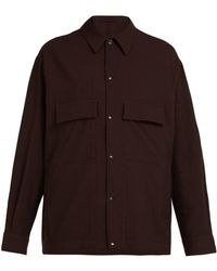 Lemaire - Patch-pocket Wool Overshirt - Lyst