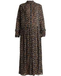 M.i.h Jeans - Edith Botanical Silk Dress - Lyst