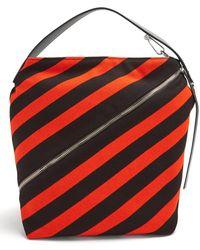 Proenza Schouler - Hobo Medium Striped-knit Bag - Lyst