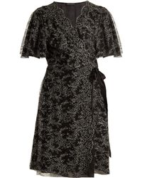 Carine Gilson | Floral Lace-embroidered Silk Wrap Dress | Lyst