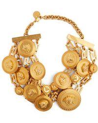 Versace - Gold Medusa Embellished Choker - Lyst