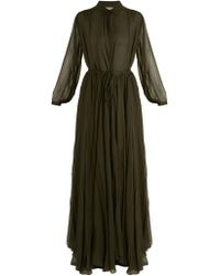 By. Bonnie Young - Long-sleeved Silk-chiffon Gown - Lyst
