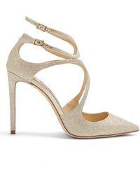 Jimmy Choo - Lancer 85mm Glitter Court Shoes - Lyst