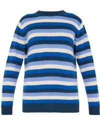 The Elder Statesman - Inch Striped Cashmere Sweater - Lyst