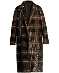 Ashish - Checked Sequin-embellished Cotton Coat - Lyst