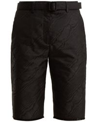 Off-White c/o Virgil Abloh - High-rise Belted Moire Shorts - Lyst