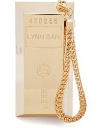 Lynn Ban - Bullion Bar Gold Plated Wristlet Bag - Lyst