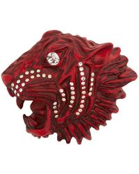 68d925ede0c Lyst - Gucci Lady Bug Crystal-embellished Brooch in Red