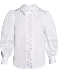 See By Chloé - Cotton Poplin Blouse - Lyst